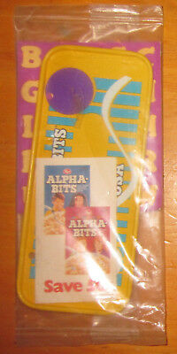 Mini Bicycle License Plate Alpha Bits POST Cereal Premiums Toy 1970s