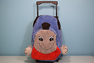 Rare Thomas Train Tank Engine Plush School Backpack Luggage Wheels Child Toddler