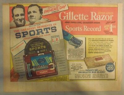 Gillette Razor Ad: Lou Gehrig and Babe Ruth, Fathers Day Special ! from 1950's