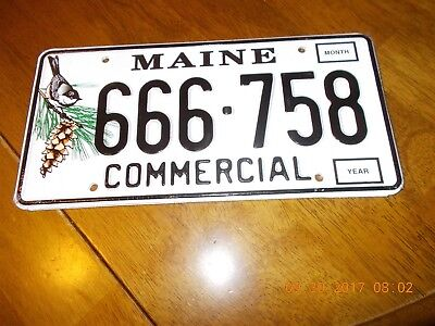 Maine Commercial License Plates #666-758