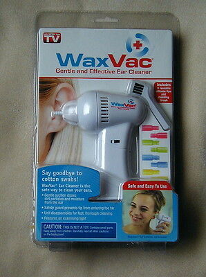 NEW NIP Original WaxVac Ear Cleaner Wax Remover As Seen On TV