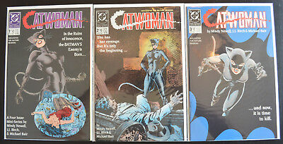 CATWOMAN (3-Book) LOT with #1, 2 & 3 (1989 | Volume 1 | DC) - HIGH GRADE (NM+)