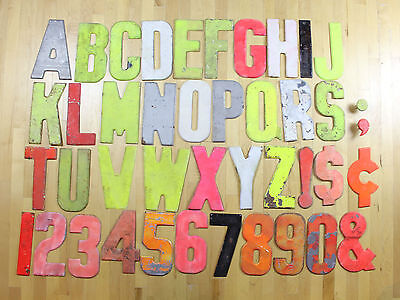 VTG Cast Aluminum Metal Industrial Letters 10 Inch Commander Signs Board