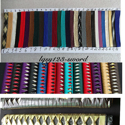 500cm Silk ito sageo wrapping cord for Japanese samurai sword katana wakizashi