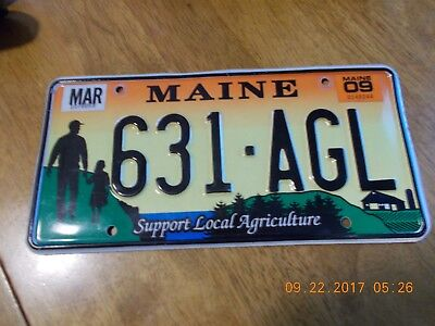 MAINE Support Local Agriculture LICENSE PLATE #631-AGL