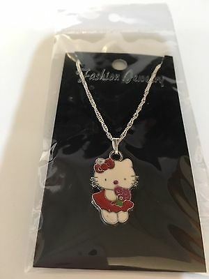 Hello Kitty Necklace Red Dress Flowers