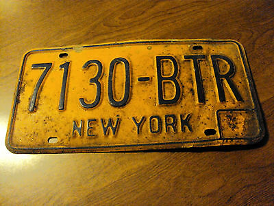 New York License Plate #7130-Btr