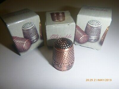 1 Quality Metal Thimbles Traditional Tailors Sewing Quilting Silver Gold Copper