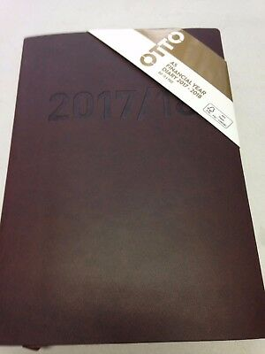 Otto Urban A5 Day to Page FY17/18 Diary Brown