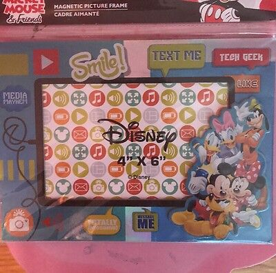 Disney Mickey Mouse MAGNETIC Or Table Top PICTURE FRAME Holds 4X6 Photo