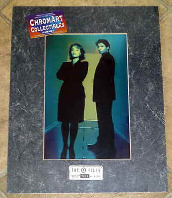1996 Limited Edition Chromart Collectibles The X Files Chromium Print