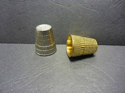 1 SKC Metal Thimble Traditional Pitted Cup Tailors Sewing Quilting Silver Gold