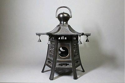 "Japanese Antique Copper Bronze Lantern ""Ishiyama"" made by TakaokaCopper Studio."