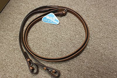 NEW Stubben NT Covered Leather Rubber Lined Reins - Tobacco - Horse