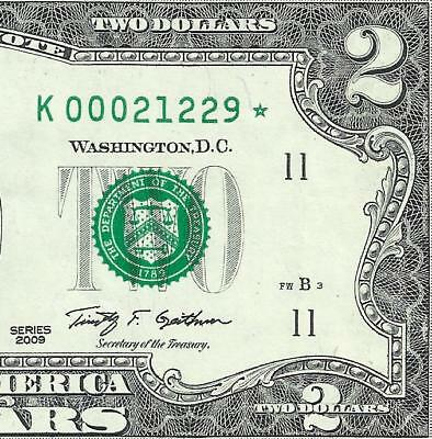 2009 $2 STAR  *DALLAS* only 512,000! LOW Serial! 2of2