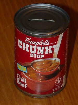 Campbell's CHUNKY Soup Chili Beef 10oz Can Piggy Bank Bank