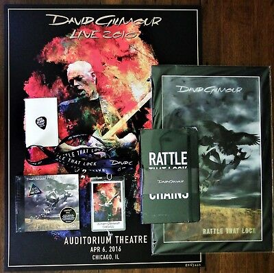 David Gilmour Auditorium Theater Chicago 4-6-16 VIP Package Lithograph #238/250
