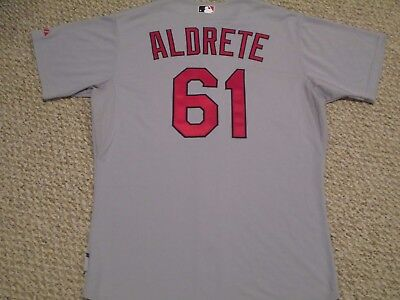 2011 Mike Aldrete size 48 St. Louis Cardinals  Game jersey issued road gray MLB
