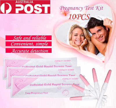 10X Midstream Early Pregancy Test Urine Hpt kits Home Test Strips ,Free Post