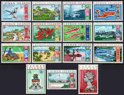 Cayman 210-224,MNH.Michel 211-225. QE II,1969.Thrush,Cattle,Fish,Arms-turtle,