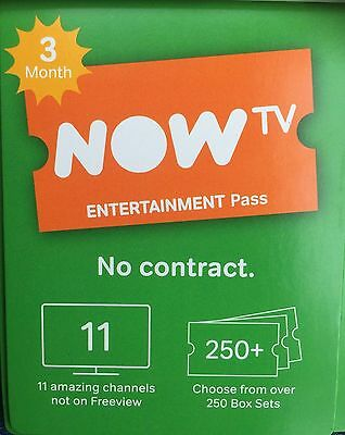 3 month NOW T.V Entertainment Pass