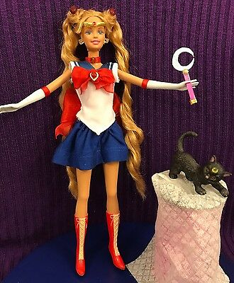 Sailor Moon Serena Barbie Doll OOAK Handmade Collector Anime Manga Custom & Luna