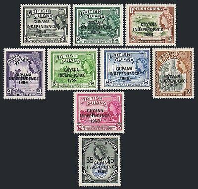 Guyana 32-32H,MNH. Michel 273-281. INDEPENDENCE 1966.Views,Bird,Fish,Agriculture