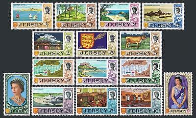 Jersey 7-21,MNH.Michel 7-21. Bailiwick 1969.QE II,Castle,Cow,Map,Lighthouse,