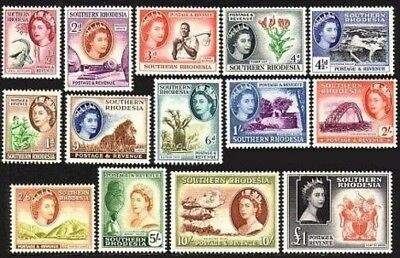 Southern Rhodesia 81-94,lightly hinged. 1953.Animals,Trees,Falls,Arms,Lion,Lily,