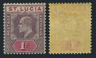 St Lucia 44,lightly hinged.Michel 36. King Edward VII,1902.
