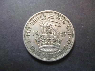 1947 English Shilling Coin In Good Used Condition Copper Nickel Coin Shown Sent