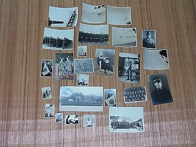 Japanese Ww2 Army/air Force Lot Of 24 Photos Plus One 1930's Geisha Postcard