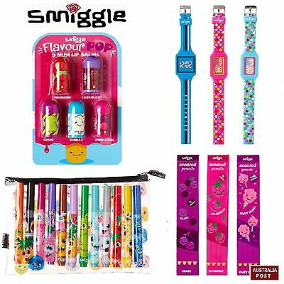 SMIGGLE Watch This Space Spots/Tracks Watch,S/Markers/ Grape 4Pk Pencils (NEW)