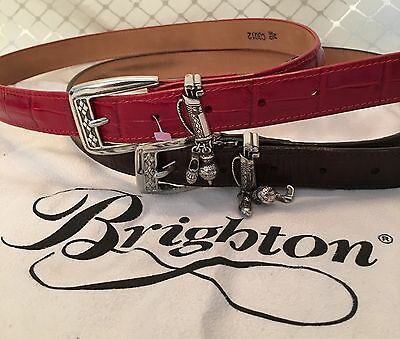 Two Brighton Golf Charm Leather Belts