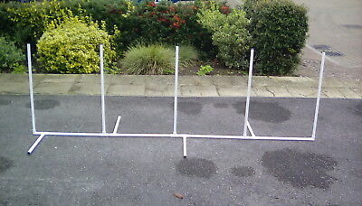 Dog agility training equipment weave poles set of 5 made to K.C regs