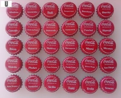 Portugal Used Bottle Caps Coca Cola Sente o Verão Complete Set Kronkorken Chapa1