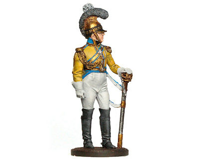 Tin Soldier - Saxonian cuirassier (Napoleonic Wars)  painted tin figurine 54 mm