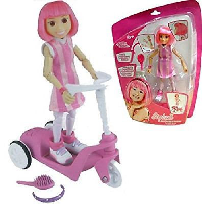 Lazy Town - Stephanie Figure with Pull Back Scooter
