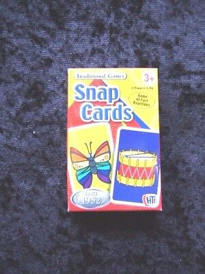 Traditional Games Snap Cards for Children 3 plus 40235 Card Size 88x58mm Boxed