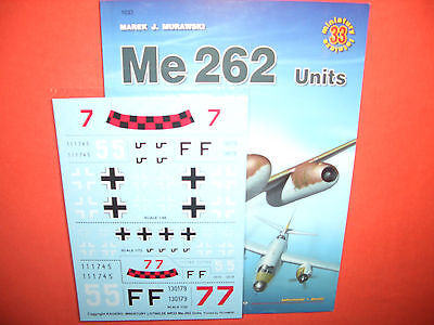 Kagero Miniatures 33, Me 262 Units & Decals  ENGLISCH!