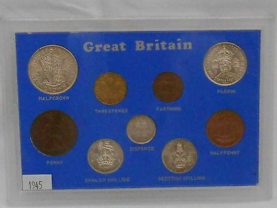 1945 commemorative coin set in plastic case - ideal birthday/anniversary gift