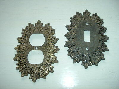 Decorative Vintage Brass Outlet/Switch Plate covers