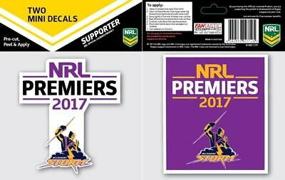 NRL Melbourne Storm Premiers 2017 Mini Decals (pack of 2)