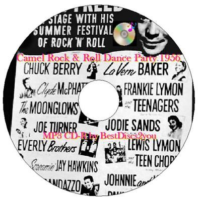 Camel Rock & Roll Dance Party 1956 OTR MP3 CD Old Time Radio Alan Freed 1950's N