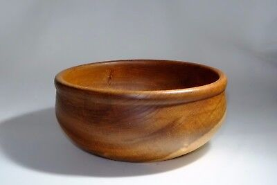 handcrafted wooden bowl brown viking round bead elm wood