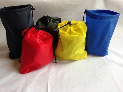 stow/stuff bags, waterproof ripstop fabric. 5 great colours. MADE IN BRITAIN.