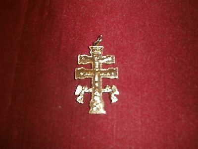 XLarge Golden Cruz de Caravaca Murcia Spain Caravaca Cross with Angels
