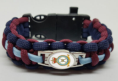 Royal Air Force Regiment (RAFR) Badged Survival Bracelet