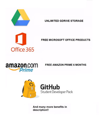 EDU Email Unlimited Google Drive, Office 365, Amazon Prime and many more!