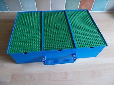 Vintage Lego Storage Box Carry Case With Base Boards